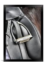 Dressage Saddle, Framed Print