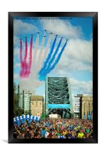 Red Arrows and the Great North Run 2014, Framed Print