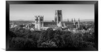 Durham Cathedral in Black & White, Framed Print