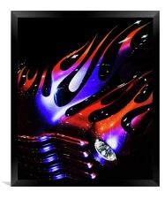 Flaming Classic, Framed Print