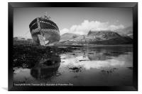 Ben Nevis with Old Boat, Framed Print