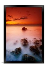 Sunset Sea, Framed Print