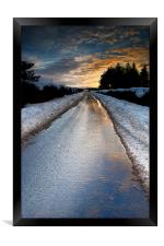 The road out, Framed Print