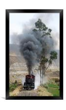 Steam in the Andes, Framed Print