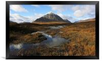 Autumn in Glencoe., Framed Print
