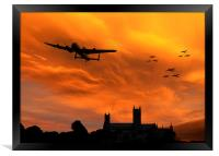 Lancaster Lincoln Sunset, Framed Print