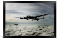 Lancaster and Spitfire Duo, Framed Print