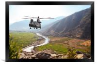 Chinook Supply Drop, Framed Print