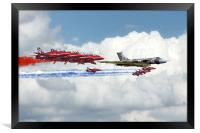 Reds Arrows with XH558, Framed Print