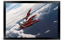 Red Arrows Trio, Framed Print