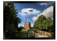 Lancaster over Tattershall, Framed Print