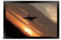 Lightning Low Pass, Framed Print