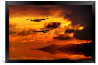 Lancasters and Sun Rays , Framed Print
