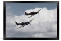 Battle Of Britain Fighters , Framed Print
