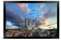 Lincolnshire Icons , Framed Print