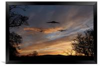 Bombers Pass By , Framed Print
