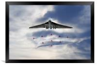 Reds with XH558, Framed Print