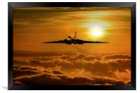 Vulcan Flies Home, Framed Print