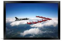 Flying with XH558 and The Reds, Framed Print