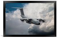 Airborne Grizzy , Framed Print