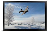 A Bombers Winter, Framed Print