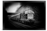 Deltic Engine IZ55, Framed Print