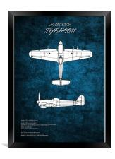Hawker Typhoon, Framed Print