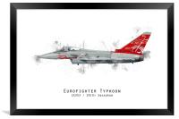 Typhoon Sketch - ZK353, Framed Print