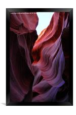 Antelope Canyon Lines, Framed Print