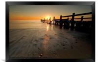 Happisburgh-sunrise, Framed Print