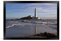 St Marys Lighthouse, Framed Print