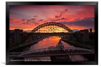 Tyne Bridge at Sunrise II, Framed Print