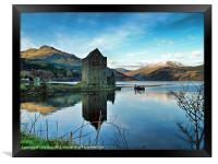 Castle on the Loch, Framed Print