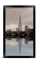 Reflections of the Shard, Framed Print