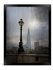 Dolphin Lampost, Framed Print