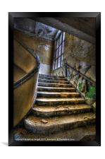 Going up and wide, Framed Print