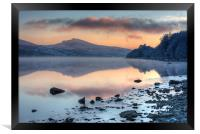 Tegid shore, Framed Print