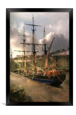 Tall Ship , Framed Print