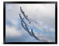 Red arrows in formation, Framed Print