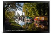 Monmouthshire and Brecon Canal at Goytre, Framed Print