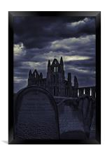 Whitby Abbey From The Grave, Framed Print