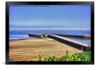 Whitby Harbour View, Framed Print
