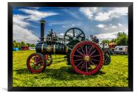 Ransome Steam Tractor, Framed Print