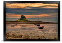 The Castle  Holy Island, Framed Print