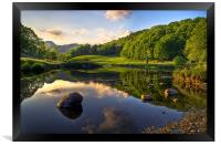 Golden Hour At Elterwater, Framed Print