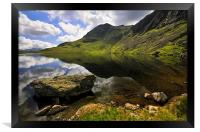 Reflections At Stickle Tarn, Framed Print