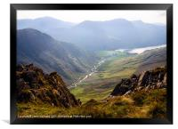 Buttermere As Seen From Dale Head, Framed Print