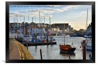 Weymouth Harbour., Framed Print