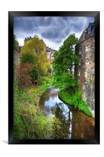 Water of Leith at Dean Village, Framed Print