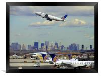 Newark Airport, Framed Print